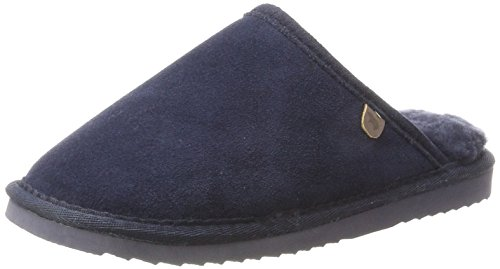 Warmbat Unisex Adults' Classic Open Back Slippers Blue (Dk. Navy 45) p3Z8MuXd