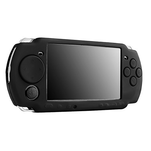 Gen Soft Rubber Jelly Silicone Skin Cover Case for Sony PSP 3000, Black