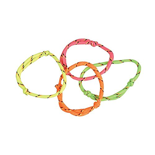 144 (1 Gross) Neon Rope Friendship Bracelets (Nylon Friendship Rope Bracelets)