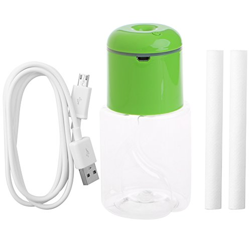 Arich Ultrasonic Mist Make Air Humidifier Bottle Caps LED Light Aroma Diffuser Fogger Green