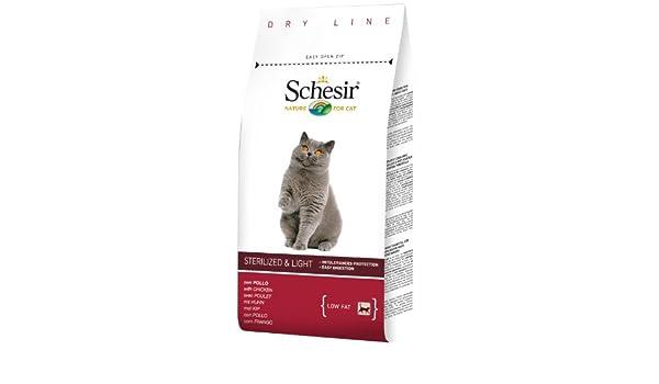 Schesir Comida Seca para Gatos Esterilizados con Pollo - 1500 gr: Amazon.es: Productos para mascotas