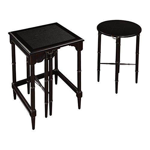 Sterling 6003205 Melbourne Traditional Asian Hardwood Nesting Tables, 24-Inch, -