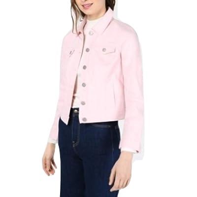 Maison Jules Denim Jacket Fiji Pink Size X-Large at Women's Coats Shop
