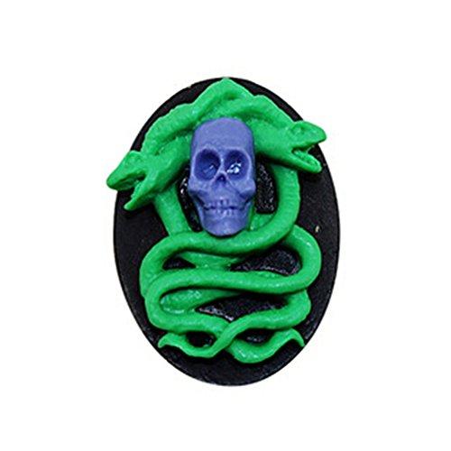 Dolland Halloween Snake Skull Silicone Mold Sugar Craft Fondant Cake Tools Cake Decoration Mold Kitchen Baking Decoration -