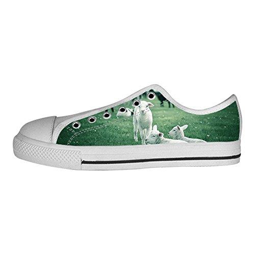 Custom Reticolo delle pecore Womens Canvas shoes I lacci delle scarpe scarpe scarpe da ginnastica Alto tetto