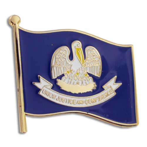 "PinMart Louisiana US State Flag LA Enamel Lapel Pin 1"""