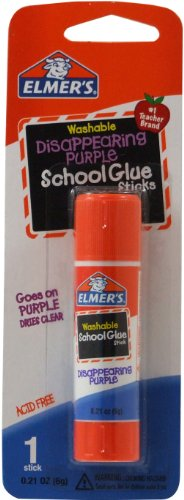 Elmer's Disappearing Purple School Glue Stick, 0.21 oz, Single Stick (E513) ()