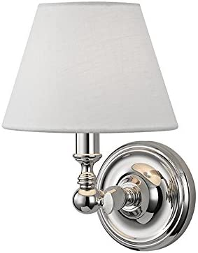 1 Light Wall Sconce Brushed Nickel and