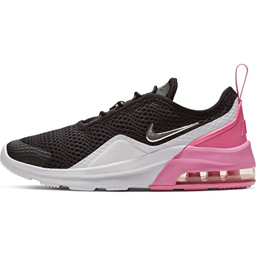 Nike Girl's Air Max Motion 2 (PS) Pre School Shoe Black/Metallic Silver/Psychic Pink/White Size 3 M US (Nike Air Girls)
