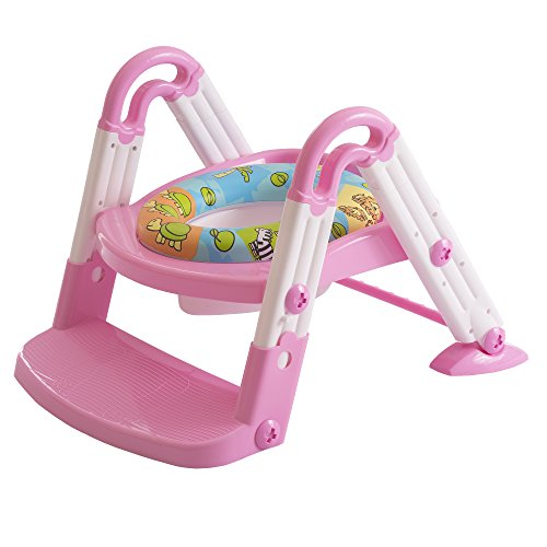 Dream On Me 3-in-1 Potty Training System, Pink (Potty Training Step System)