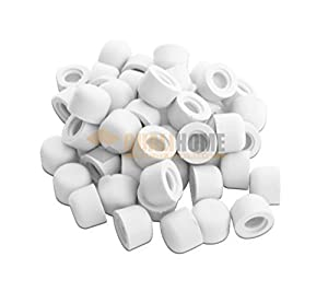 Superb Premium Door Stop Replacement Rubber Tip, White (50 Pack)