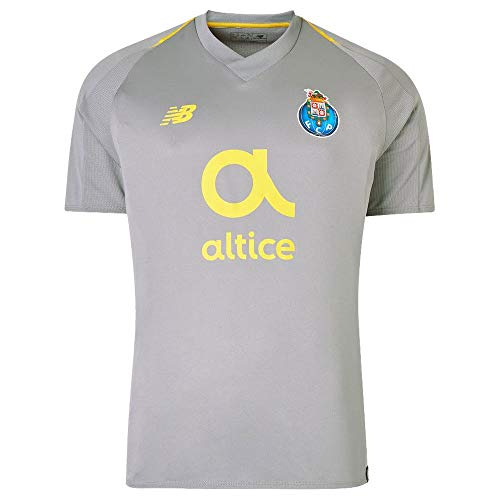 New Balance 2018-2019 FC Porto Away Jersey- Grey/Yellow ()