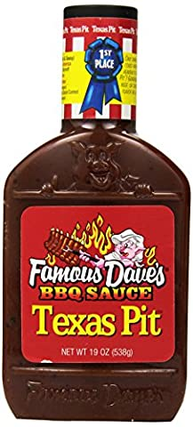Famous Dave's BBQ Sauce Texas Pit, 19-Ounce (Pack of 6) (Famous Daves Texas Pit)