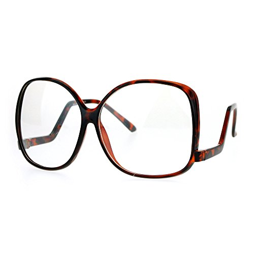 SA106 Womens Drop Temple Crooked Arm Swane Diva Clear Lens Eye Glasses - Sunglasses Crooked