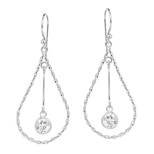 Teardrop CZ Dangle Earrings