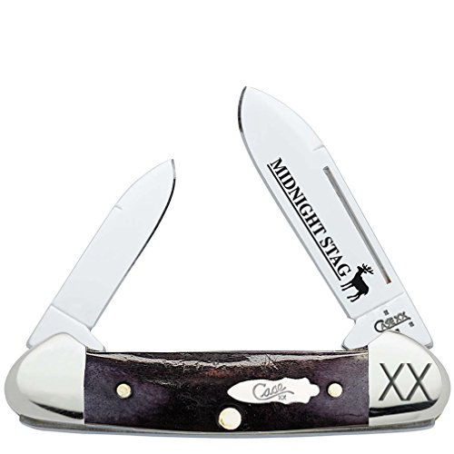 CASE XX WR Pocket Knife 22486 Midnight Stag Baby Butterbean