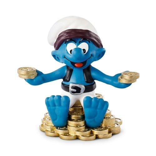 (Schleich Treasure Smurf Toy Figure)
