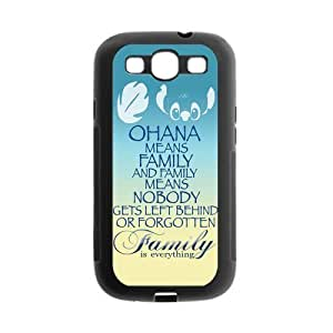 Family is Everything Quote OHANA Protective Gel Rubber Cell Cover Case for SamSung Galaxy S3