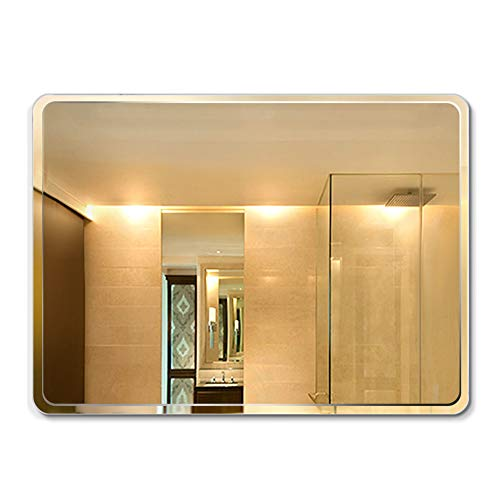 Mount Proof Wall Explosion (Mirror, Wall Mount Rectangle Frameless Bathroom Dressing Table Sink Explosion-Proof)