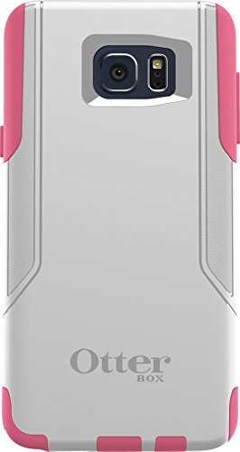 OtterBox Commuter Cell Phone Case for Samsung Galaxy Note5 -  Retail Packaging - Hibiscus Frost (White/Hibiscus Pink) - (Cell Commuter Case Phone)