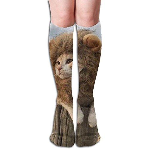 ラベ路面電車怠けたライオン様の猫 3D印刷デザイン 女性の男性 秋と春 フリースタイルのデザインソックス ファッションかわいい 弾性 薄型 靴下 高校生 ティーンエージャー フォーシーズンズ