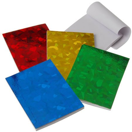 Lot of 12 Assorted Color Mini Hologram Notebook Notepad Memo Pads