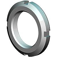25 mm OD 5 mm Thickness M15 x 1.0 Thread J.W Winco KM-2 KM Bearing Lock Nut 4 mm Slot Width-2 mm Slot Depth 4