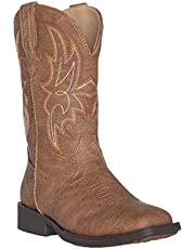 Children Western Kids Cowboy Boot   Austin Square Toe for Boys and Girls by Silver Canyon