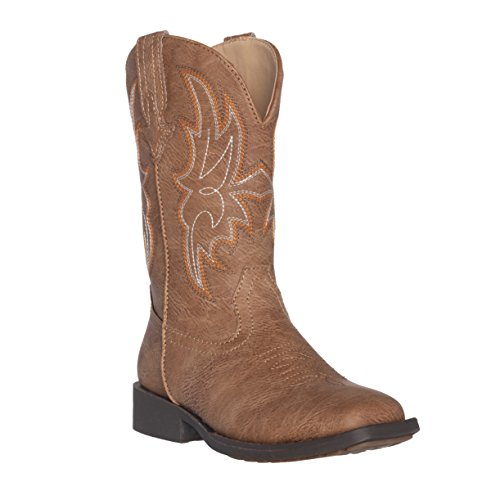 Children Western Kids Cowboy Boot,Distressed Brown,3 M US Little Kid ()