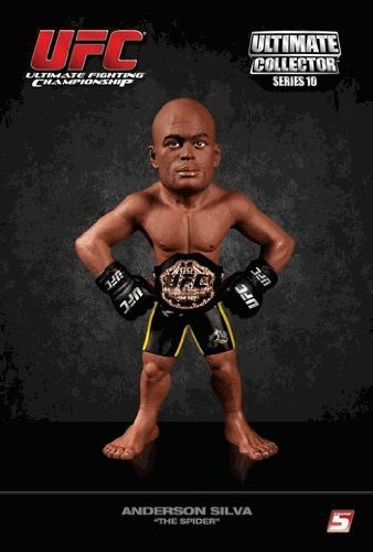 UFC Ultimate Collector Series 10 Action Figure - Anderson The Spider Silva Championship Edition by Round 5 MMA
