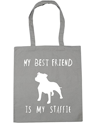 best My Beach Bag Gym my HippoWarehouse staffie 42cm x38cm is friend 10 Light Grey litres Shopping dog Tote C5wnqdvxP