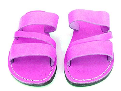 Läder Sandaler För Män Till Försäljning Flip Flops Grekiska Vacker Bekväm 11 Färger Grekland Stil Genom Sandalim Rosa