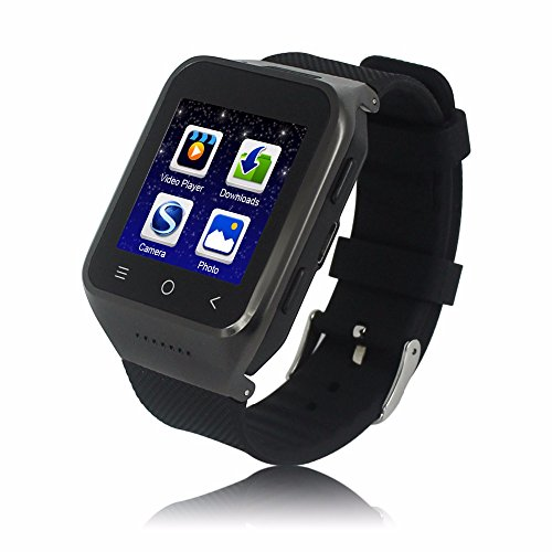 Bluetooth Smart Watch With Camera Touch Screen Smartwatch Unlocked Watch Cell Phone With Sim Card Slot Smart Wrist Watch Fitness Tracker For Android Phones (black) by Unknown