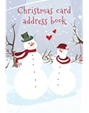 Christmas card address book: An address book and tracker for the Christmas cards you send and receive - Snow and love cover