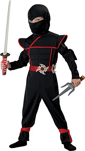 UHC Boy's Stealth Ninja Jumpsuit Child Outfit Halloween Fancy Costume, Child S -