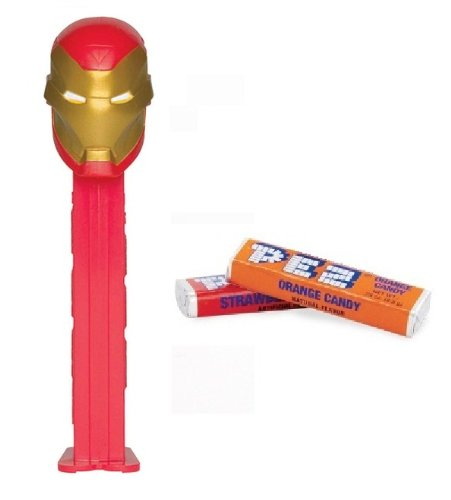 Price comparison product image Metallic Iron Man PEZ Dispenser