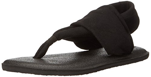 Sanuk Kids Yoga Sling Burst Sandal (Toddler/Little Kid/Big Kid), Black, 6/7 M US Big Kid