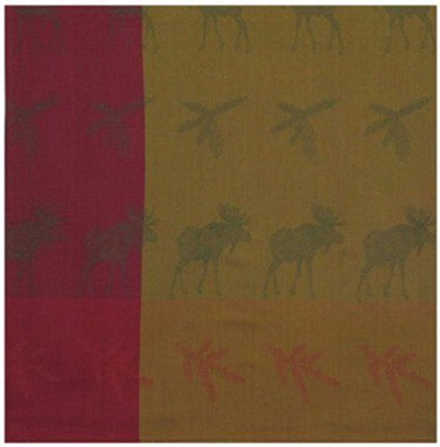 100% Cotton Green & Rust Moose & Pine Bough 60