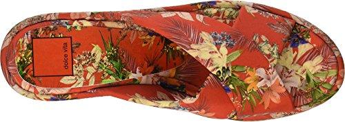 Floral Dolce Wedge Women's Vinita Vita Red Sandal Print Multi q0pvTqwB