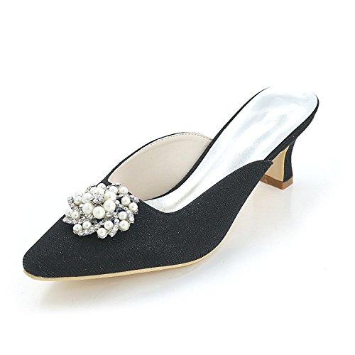 L@YC Women'S High Heels Spring / Summer / autumn / Silk Wedding / Party Evening & Cool Slippers Black