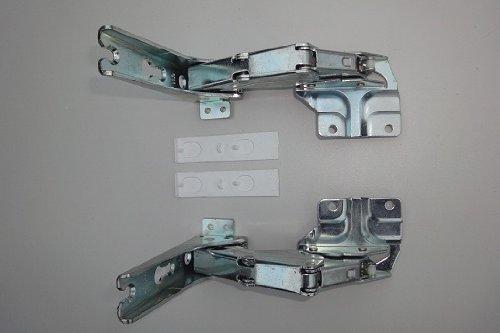 Türscharnierset (Kit) oben+unten für Kühlschränke von AEG, Bosch / Siemens 481147, Miele 2285121, Quelle