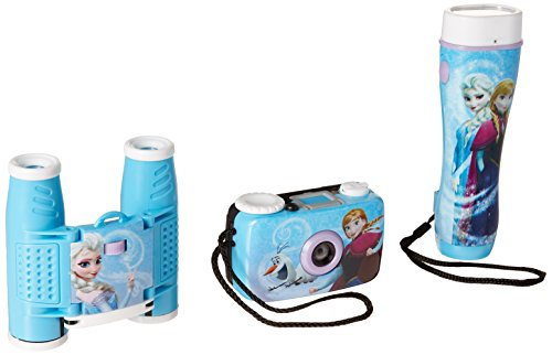 Sakar Web Cameras (Frozen 3-Piece Adventure Kit with Camera, Flashlight, and Binoculars 26027)