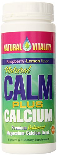 Vitalité naturelle naturel calme Plus Calcium framboise citron, 8 onces