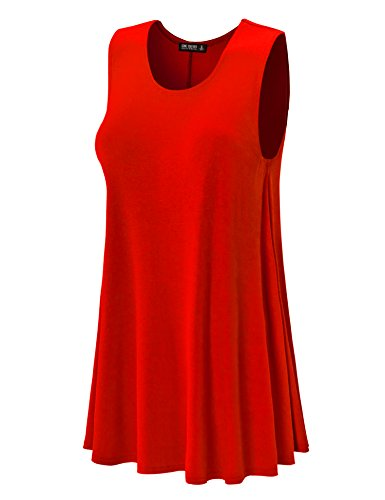 Together Made Sleeveless Neck Trapeze Dress red in California CTC Wdr929 Womens Round Come USA 4zd6wqd