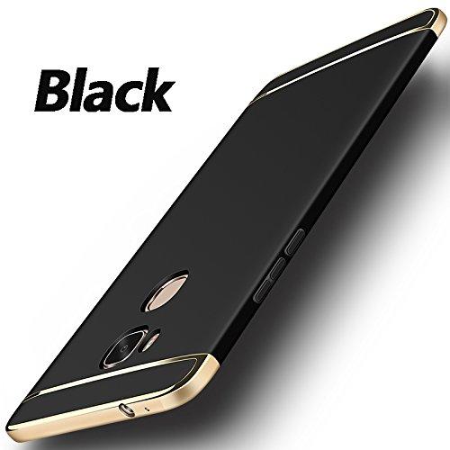 Honor 5X Case, Fashion Electroplating Frame Ultra Thin Plating 3 in 1 Hard  Plastic PC Cover Case for Huawei Honor 5X GR5 GR 5 KIW KIW-AL10 KIW-UL00