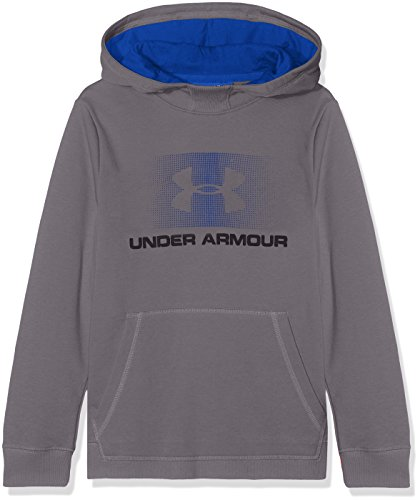 Under Armour Boys' Terry Hoodie, Graphite (040)/Black, Youth - Boys Sweatshirt Armour Under