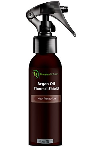 Argan Oil Hair Protector Spray – 4 oz Thermal Heat Protectant Against Flat Iron – Sulfate Free 100% Organic & Natural Prevents Damage Dryness Breakage & Split Ends Premium Nature