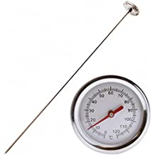 Comkit Compost Thermometer - Premium Stainless Steel Thermometer for Backyard Composting Pile, 0 - 120 Degrees Celsius Range, 20 Inch Temperature Probe