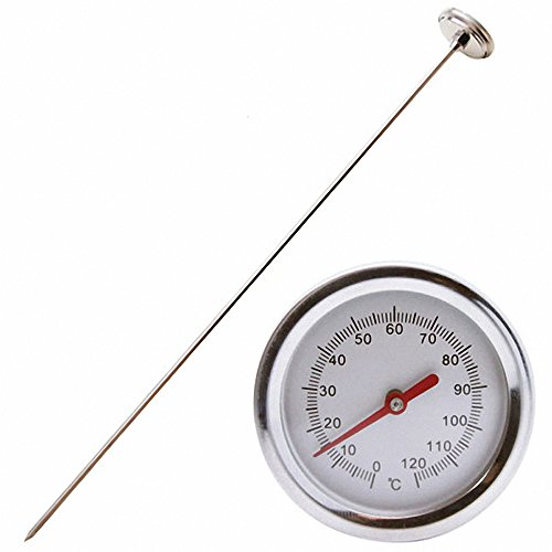 Comkit Compost Thermometer - Premium Stainless Steel Thermometer for Backyard Composting Pile, 0 - 120 Degrees Celsius Range, 20 Inch Temperature (Compost Thermometer)