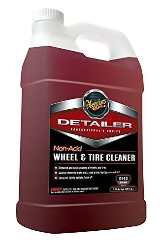 MEGUIAR'S D14301 Non Acid Tire & Wheel Cleaner, 1 Gallon, 128. Fluid_Ounces (Best Alloy Wheel Cleaner)